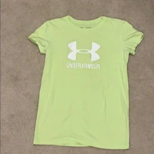 Under Armour Bright Yellow Tee